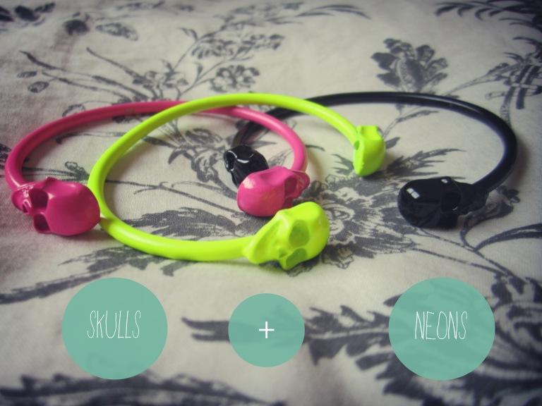 skull neon bracelets